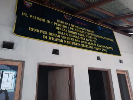 Serah Terima Rehab Rumah Anggota Veteran dalam Rangka HUT RI Ke - 73