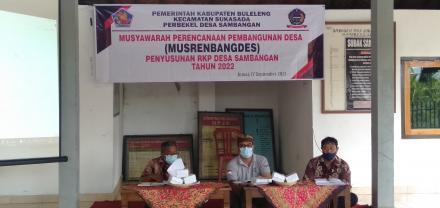MUSRENBANGDES (Penyusunan RKP Desa Sambangan Tahun 2022